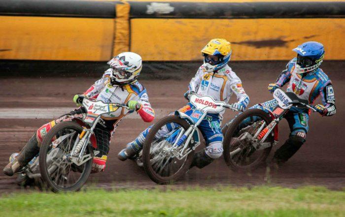 Bjarne Pedersen, Nicki Pedersen and Niels-Kristian Iversen